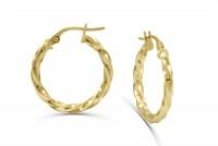Hoop Earrings in 18K Yellow Gold