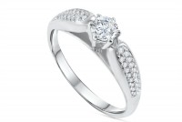 0.52ct. Diamond Engagement Ring in 18K Gold