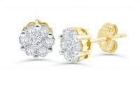 0.49 ct Diamond Earring in 18K Gold