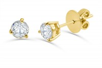 0.63ct. Solitaire Diamond Earring in 18K Gold