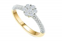 0.96ct. Diamond Engagement Ring in 18K Gold