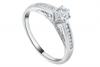 0.47ct. Diamond Engagement Ring in 18K Gold