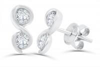 0.71ct. Diamond Earring in 18K Gold