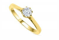 0.40ct. Diamond Solitaire Engagement Ring in 18K Gold