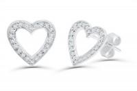 0.27ct. Diamond Earring in 18K Gold